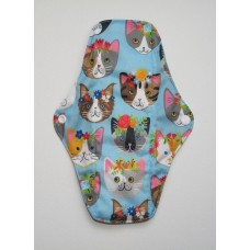 Charcoal Regular Flow Menstrual Pad - Kawaii Cats