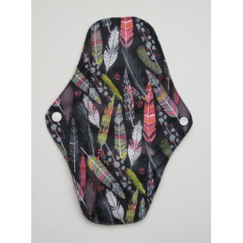 Charcoal Regular Flow Menstrual Pad - Feathers