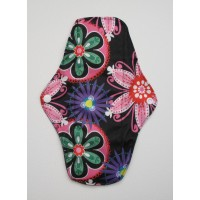 Charcoal Regular Flow Menstrual Pad - Neon Flowers