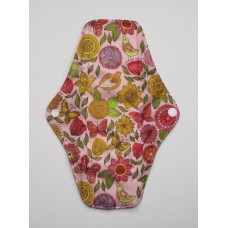 Charcoal Regular Flow Menstrual Pad - Vintage Flowers