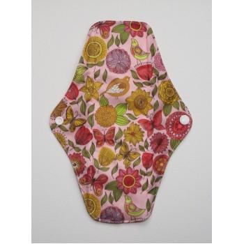 Charcoal Regular Flow Menstrual Pad - Vintage Flowers
