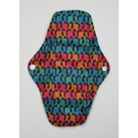 Charcoal Regular Flow Menstrual Pad - Elephants