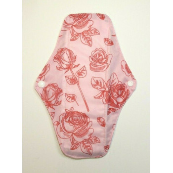 Charcoal Regular Flow Menstrual Pad - Roses