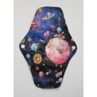 Charcoal Regular Flow Menstrual Pad - Space
