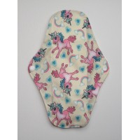 Charcoal Regular Flow Menstrual Pad - Unicorns