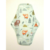 Charcoal Regular Flow Menstrual Pad - Woodland
