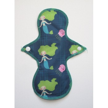 Cloth Mama Bamboo Light Flow Pad - Mermaids Cloth Mama Light Flow Pads - Cloth Mama