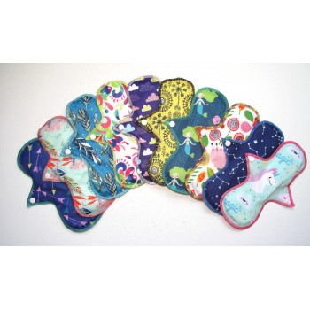 Set of 5 Cloth Mama Light Flow Pads Light Flow Cloth Pad Sets - Cloth Mama