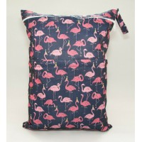 Large Wet Bag - Flamingos