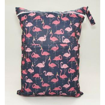 Large Wet Bag - Flamingos