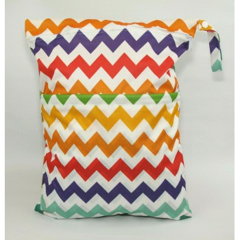 Large Wet Bag - Rainbows Large Wet Bags - Cloth Mama