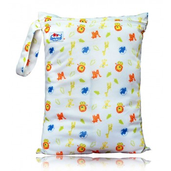 Large Babyland Wet Bag - Cute Safari