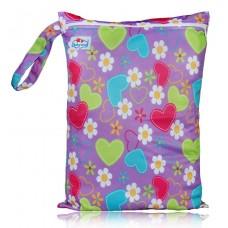 Large Babyland Wet Bag - Hearts & Daisies