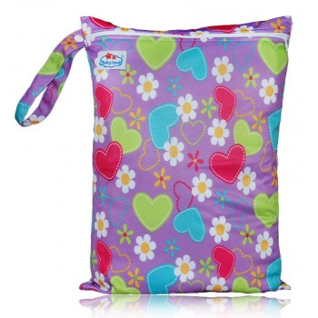 Large Babyland Wet Bag - Hearts & Daisies