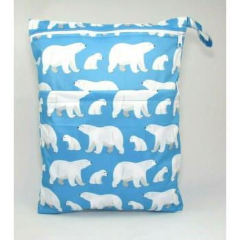 Large Wet Bag - Polar Bears