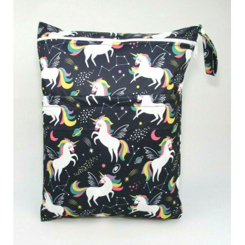 Large Wet Bag - Space Unicorns