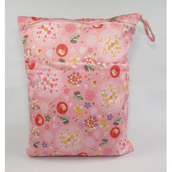 Large Wet Bag - Vintage Flowers Large Wet Bags - Cloth Mama