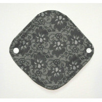 Bamboo Panty Liner / Light Flow Sanitary Pad - Black Lace