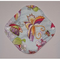 Bamboo Panty Liner / Light Flow Sanitary Pad - Blue Butterflies