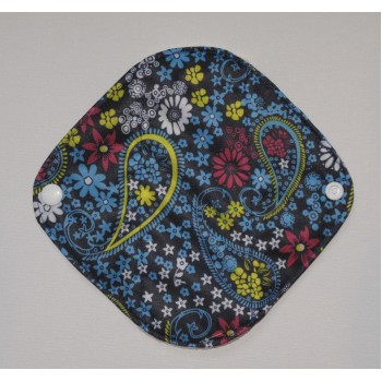 Bamboo Panty Liner / Light Flow Sanitary Pad - Blue Paisley