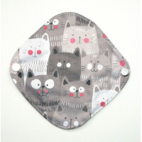 Bamboo Panty Liner / Light Flow Sanitary Pad - Cats