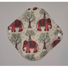 Bamboo Panty Liner / Light Flow Sanitary Pad - Pink Elephants