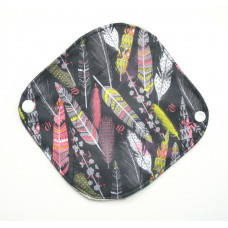 Bamboo Panty Liner / Light Flow Sanitary Pad - Pretty Feathers