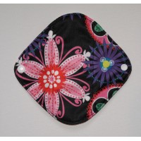 Bamboo Panty Liner / Light Flow Sanitary Pad - Neon Flowers