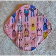 Bamboo Panty Liner / Light Flow Sanitary Pad - Pink Bunnies