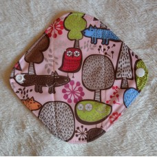 Bamboo Panty Liner / Light Flow Sanitary Pad - Pink Owls