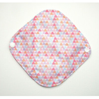 Bamboo Panty Liner / Light Flow Sanitary Pad - Pink Shapes
