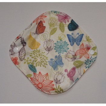 Bamboo Panty Liner / Light Flow Sanitary Pad - Pretty Butterflies Bamboo Light Flow Sanitary Pads - Cloth Mama