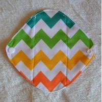 Bamboo Panty Liner / Light Flow Sanitary Pad - Zig Zag