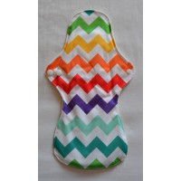 Bamboo Cloth Heavy Flow Sanitary Pad - Multi Colour Zig Zags