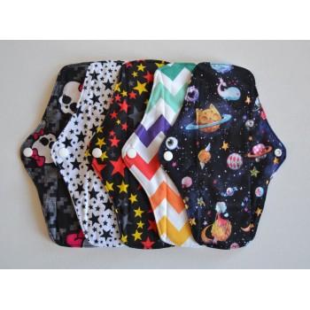 Set of 5 Bamboo Regular Flow Cloth Pads - Stars & Stripes Regular Flow Cloth Pad Sets - Cloth Mama