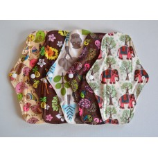 Set of 5 Bamboo Regular Flow Cloth Pads - Wild Designs