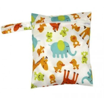 Medium Wet Bag - Baby Zoo Medium Wet Bags - Cloth Mama