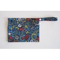Mini Wet Bag - Blue Paisley