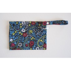 Mini Wet Bag - Blue Paisley