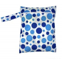 Medium Wet Bag - Blue Spots