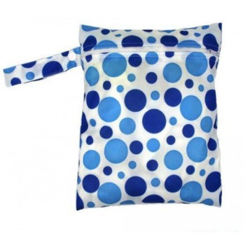 Medium Wet Bag - Blue Spots Medium Wet Bags - Cloth Mama
