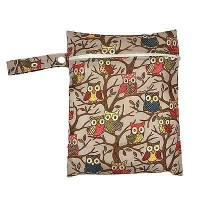 Medium Wet Bag - Brown Owls