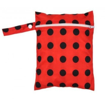 Medium Wet Bag - Ladybird - Cloth Mama
