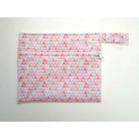 Mini Wet Bag - Pink Shapes