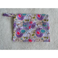 Mini Wet Bag - Purple Swirls