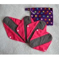 Bamboo Charcoal Sanitary Pad Starter Set - Pink