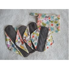 Bamboo Charcoal Sanitary Pad Starter Set - Pretty Butterflies