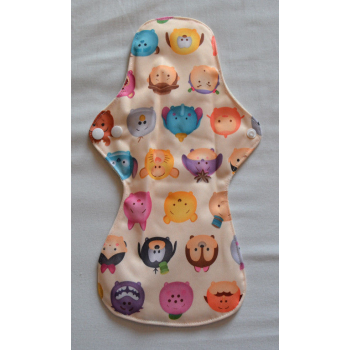 Bamboo Cloth Heavy Flow Sanitary Pad - Cartoon Faces Heavy Flow Sanitary Pads - Cloth Mama