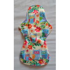 Bamboo Cloth Heavy Flow Sanitary Pad - Tropical Owls
