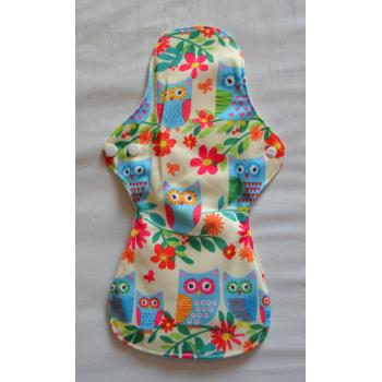 Bamboo Cloth Heavy Flow Sanitary Pad - Tropical Owls Heavy Flow Sanitary Pads - Cloth Mama